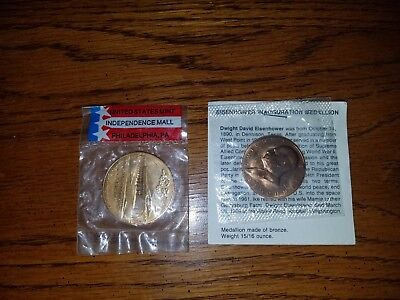 United States Mint Independence Mall1969 And Eisenhower Bronze Medal Coins