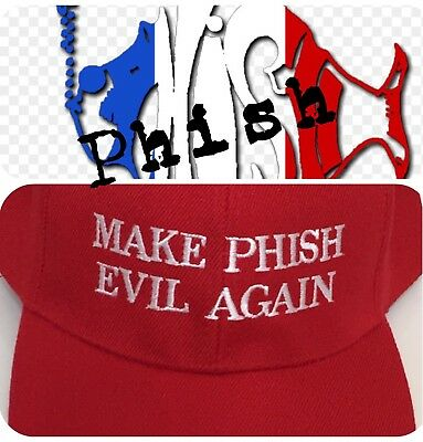 MAKE PHISH EVIL AGAIN Embroidered Hat Cap American Rock Band