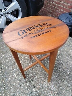 Rare Solid wood folding Guinness advertising coffee table pub, home bar, mancave