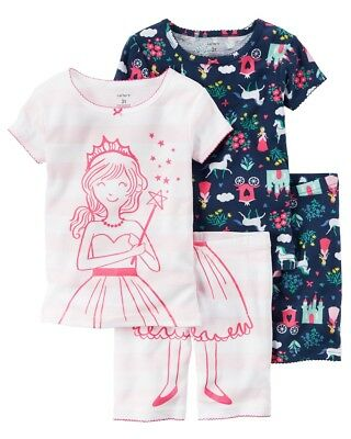 CARTERS GIRLS FAIRYTALE 4-Piece Colorful Cotton PJs -  19.99  b3c42318c