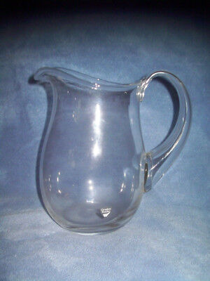 Orrefors Sweden SIGNED Clear Pitcher 7 inches Tall