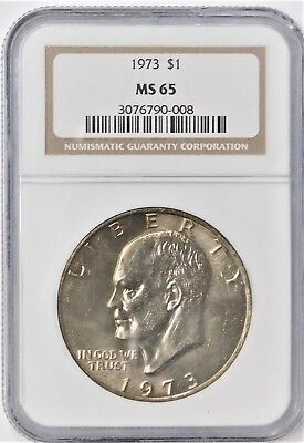 1973 Eisenhower Dollar - NGC MS65 !!!
