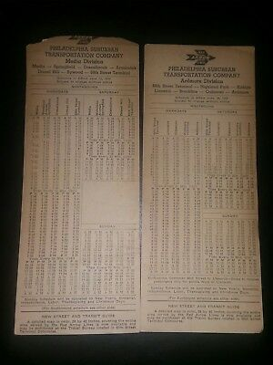 Lot Of 2 Vintage Red Arrow Lines Railroad Timetables ( 1959 ).