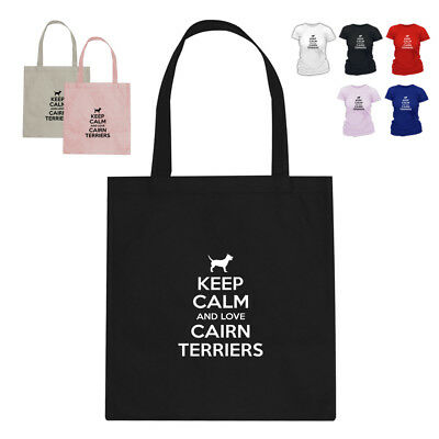 Keep Calm And Love Cairn Terriers Dog Lover Parody Tote Bag Gift 188