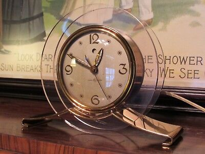 General Electric GE Telechron vintage clock Pink Rapture 3H160 Candlelight dial