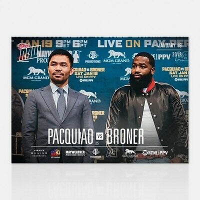 2019 Topps NOW Showtime Championship Boxing PVB-1 Manny Pacquiao Adrien Broner