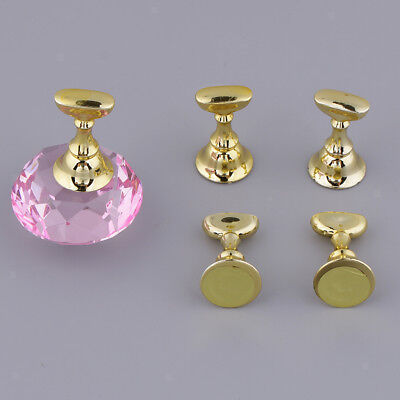 5 Pcs Nail Tips Practice Stand Magnetic Crystal Holder Display Training Tool