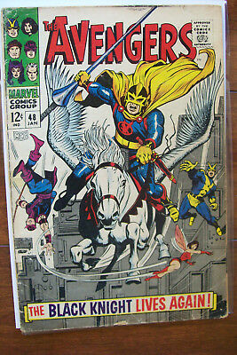 The Avengers # 48 Marvel Comic Book January 1968 The Black Knight Lives & Rules