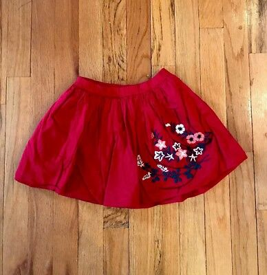 Tea Collection Red Skirt, Size 4T