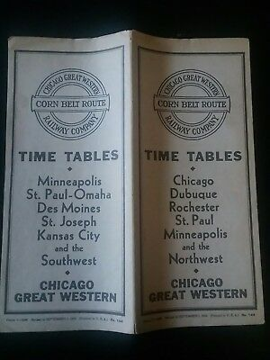 1945 Chicago Great Western Railway Company Timetable  ( Corn Belt Route).