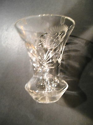 Antique Cut Crystal Vase ,Very Old, 5.5 Inches