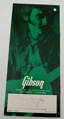 1970 Gibson Guitar Pamphlet Featuring Classic Models