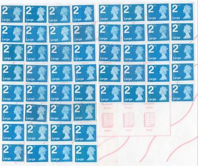 73 2Nd Class Unfranked Large Letter Stamps 52 Blue/21 Xmas  Fv£57