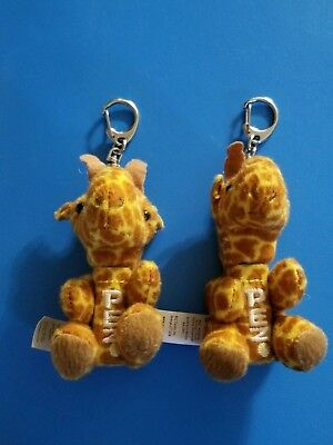 Pez Wildlife Animal Plush Candy Dispensers 2 Giraffes With Clip-on 2014