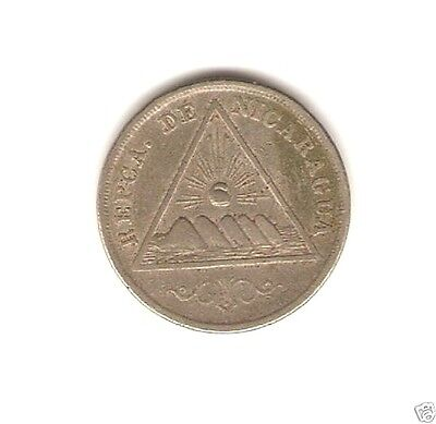 1899 NICARAGUA Coin 5 CENTAVOS -  One year type .