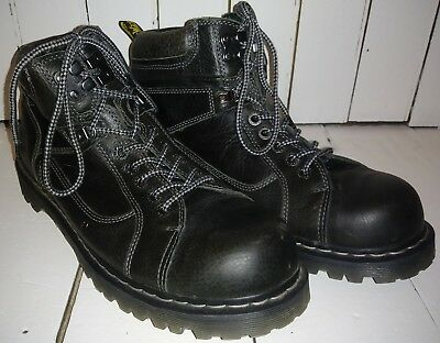 cd484849a60e Dr. Martens Men s Diego 7-Eye Boots Black Harvest Leather 13 Medium 12 Uk