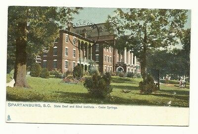 1907 Spartanburg Sc View Of The Cedar Springs Deaf And Blind Institute