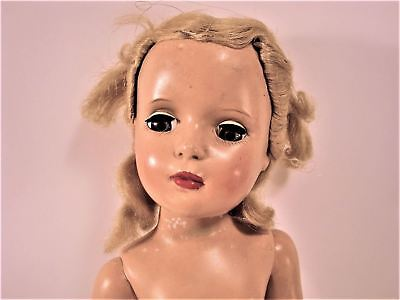 "Ca. 1950 Hard Plastic 17"" MADAME ALEXANDER DOLL - Lovey, Blonde"