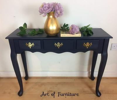 Victorian Antique Writing Desk Dressing Table hand painted Mineral Paint Upcycle
