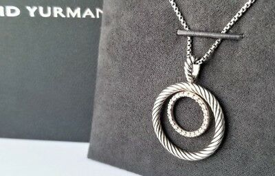 David Yurman - Sterling Silver Mobile Necklace with Diamonds - Mint Condition!