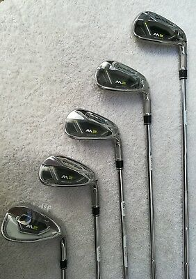 TAYLORMADE  M2 2017  IRON SET 7 al PW+SW   varillas REAX 88 acero  High launch
