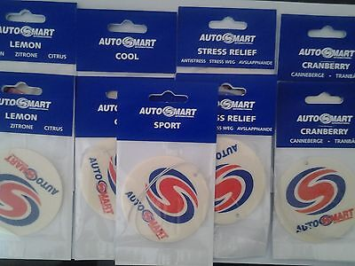 10 × autosmart air fresheners cool scent, long lasting,,