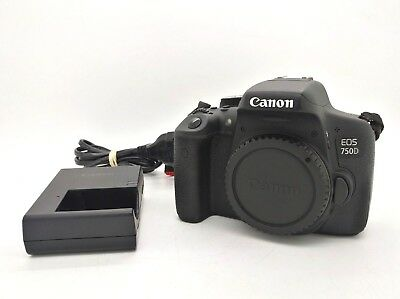 CANON EOS 750D Digital SLR Camera Body 24.2 Mpx + Charger + SD 16Gb 80Mb/s