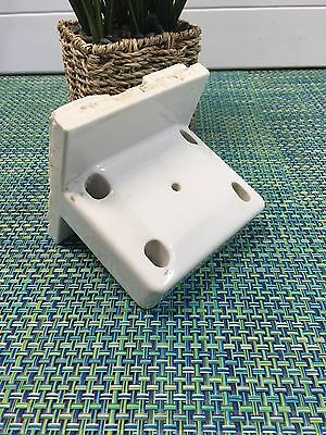 1924 FARMHOUSE Porcelain Bathroom TOOTHBRUSH Holder WALL MOUNT~ WILLETTE CORP NY