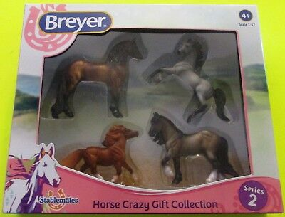 """Breyer Stablemates  """" Horse Crazy Gift Collection """" New In Carton  Series 2"""