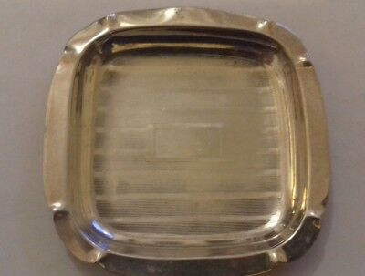 Vintage sterling silver pin/ash tray  marked sterling silver - 19.6gms