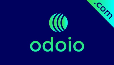 Odoio.com is a cool 5 letter brandable domain name for sale + Free Logo!