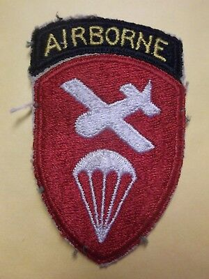 "3 1/2"" Ww Ii 2 Us Army Airborne Command Whiteback Authentic Patch"