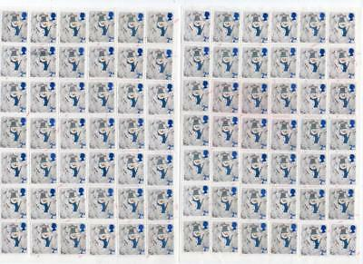 84 XMAS 2nd CLASS STAMPS UNFRANKED OFF PAPER GUMMED FV £48