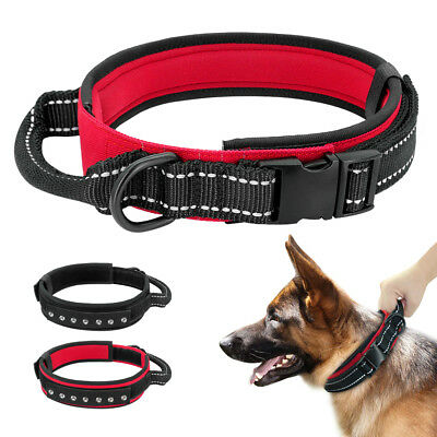 Reflective Tactical Military k9 Dog Training Collar with Durable Control Handle
