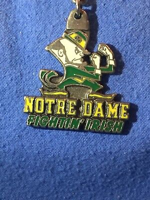 Vintage Notre Dame Fighting Irish Keychain 1992