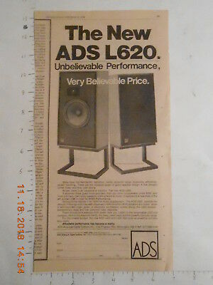 1978 ADS stereo speakers AD for the L620 Wilmington Mass MA F800 stands