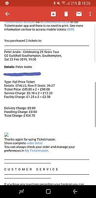Peter Andre Concert Tickets Southampton 23 Feb 2019