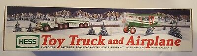 2002 Hess Toy Truck & Airplane -  Never Opened Vintage Collectible - Mint