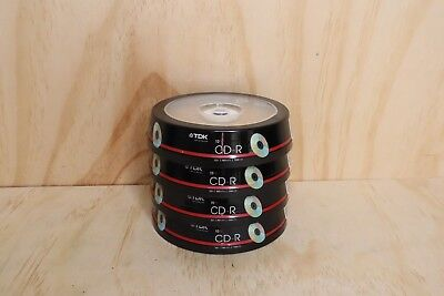 4 x TDK CD-R 10 Pack 52x/80 Min/700mb
