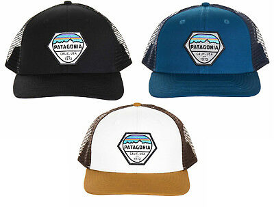 38d3cf132c6388 PATAGONIA Fitz Roy Hex Trucker Hat #38185 Classic Mid-Crown Ajustable  Snapback