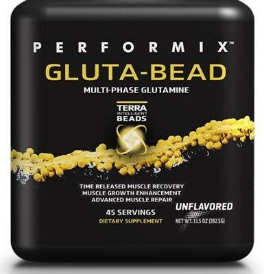 Pure L Glutamine Powder GLUTA-BEAD Muscle Growth & Recovery Unflavored