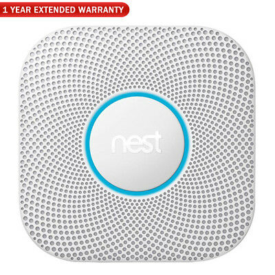 Google Nest Protect Wired Smoke and Carbon Monoxide Alarm, 2nd Gen + Extended Wa