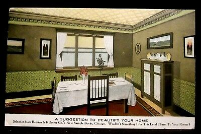 REMIEN-KUHNERT Wallpaper Advertising Postcard, MULBERRY IN Indiana A LESTER 1908