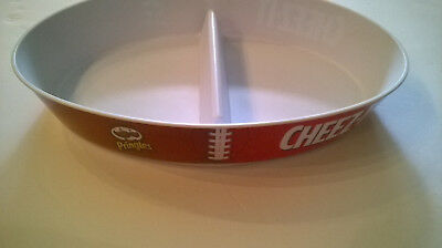 Football Snack Dish Pringles Cheez-It Kelloggs advertising 2 Sections Plastic