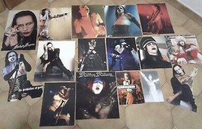 MARILYN MANSON Lot 36 Posters Clippings Live Antichrist Holy Wood Twiggy CD DVD