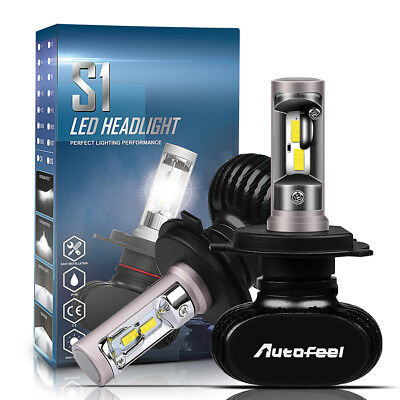 CREE H4 HB2 9003 1700W 255000LM LED Headlight Kit Hi/Lo Power Bulb 6000K White