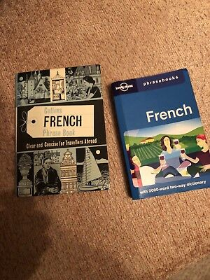 Two French Phrase Books Lonley Planet And Collins