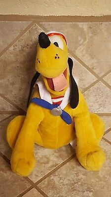 Pluto Disney Cruise Lines Exclusive Plush Sailor Doll