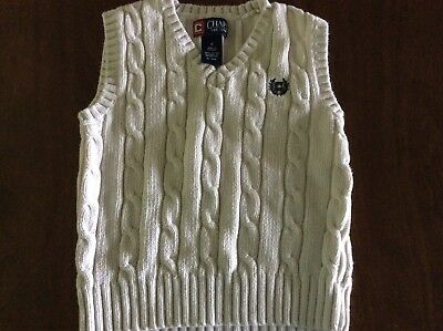 Chaps Toddler Cream/ Off White Color Cable Knit Sweater Vest Size 4
