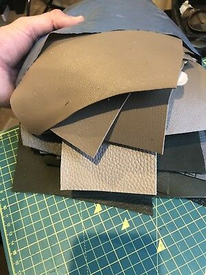 Full Grain French Leather Offcuts, Scraps, Remnants, Mixed Leather - 2 KG Bag